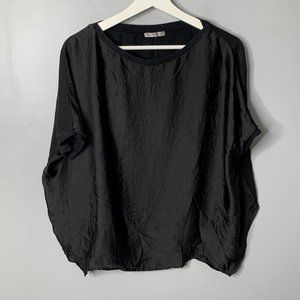 Zara Black Dolman Blouse